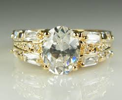 real crystal rings images Luxury 18k solid yellow gold plated crystal zircon gemstone ring jpg