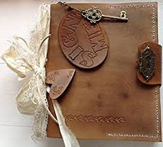 Leather Wedding Guest Book Vintage Style Leather Handmade Wedding Guest Book Diary