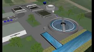 3d simulation of water treatment plant for bibs project youtube