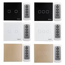 wireless wall light switch sesoo 2 3gang smart wireless remote control touch wall light switch