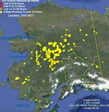 Wildfire Map America by Smoke Over North America Pyrocb
