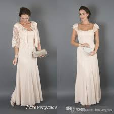 elegant champagne colour with jackets mother of the bride dresses