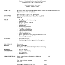 dental resume template dental resume template dental assistant resume template writing