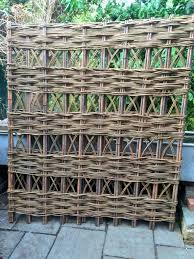 woven willow trellis panels in a range of standard sizes or