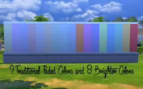 mod the sims new solid wall with crown moulding and baseboards