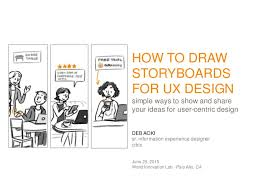 user experience design introduction to storyboarding for user experience design