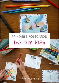 photo postcards printable postcards for kids pdf tinkerlab