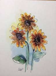 the 25 best watercolor sunflower ideas on pinterest easy