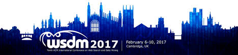 wsdm 2017 u2013 the 10th acm international conference on web search
