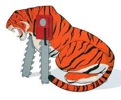 chainsaw animals bengal tiger pause designs store