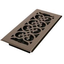 Decorative Metal Sheets Home Depot by 4 In X 10 In Steel Floor Register In Brushed Nickel Sph410 Nkl
