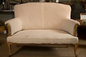 Wooden Carving Furniture Sofa French Carved Giltwood Sofa With Scroll Arms And Cabriole Legs At