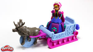 frozen power wheels sleigh disney frozen play doh sled adventure hellokids youtube