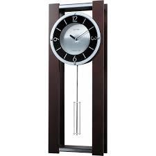 Modern Wall Clocks Rhythm Wsm Espresso Ii Wooden Musical Clock Cmj541ur06