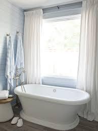 bathroom light wood tile modern matte tall glass window white