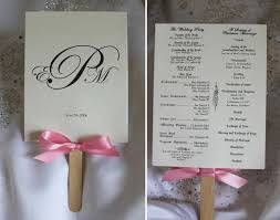 diy wedding program fan diy wedding program fan wording finding wedding ideas