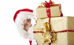 christmas surprise wallpapers santa claus bag christmas gifts glasses beard wallpaper