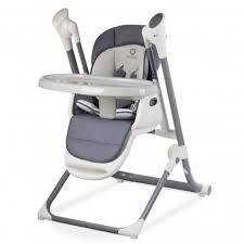 siege haute bébé chaise haute bébé évolutive 2en1 transat balancelle niles gris fo