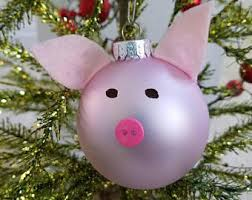 pig ornament etsy
