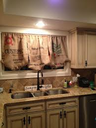 kitchen curtains ideas decorations kitchen with idea accented by three rustic