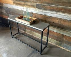 Concrete Console Table Concrete Console Table Stoic Metal Frame Base