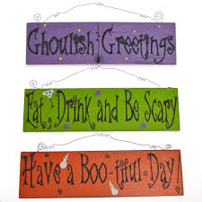halloween ghost hanging wall and door signs halloween wikii