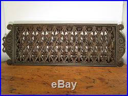 antique fleur de lis register vent cover ornamental iron