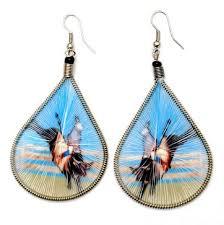 threaded earrings handmade threaded earrings west living