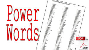 Powerful Action Verbs For A by Powerwords Great Action Words For Resumes Stories Copywriting