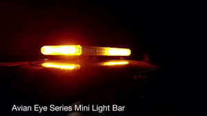 led equipped light bar night time install with led equipped avian eye series mini light bar