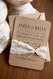 wedding invitations kraft paper nostalgic kraft paper lace wedding invitation lace wedding