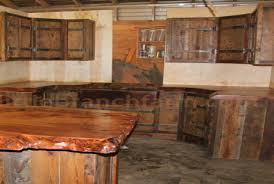 Rustic Cabinets For Kitchen Cabinet Painted Kitchen Cabinets With Natural Wood Doors Awesome