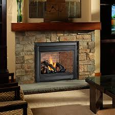fireplace brown shag rug with beige armchair and fireplace
