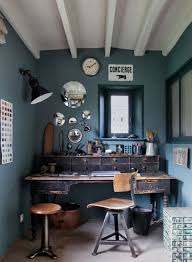 Vintage Home Office Desk Blue Walls Vintage Office Furniture Desk And Chair Of