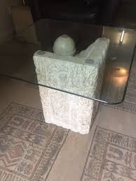 marble granite effect stone glass coffee table in lewisham