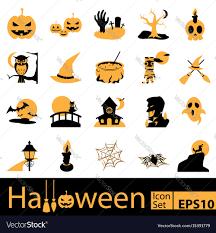 Halloween Icon Halloween Icon Set Royalty Free Vector Image Vectorstock