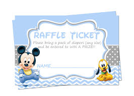 baby mickey mouse baby shower raffle tickets diaper raffle