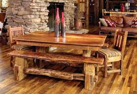 log furniture dining table and chairs log dining table and chairs
