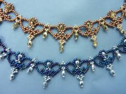 crystal lace necklace patterns images Beaded lace archives jpg