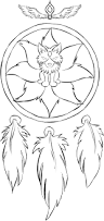dreamcatcher coloring page getcoloringpages com
