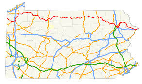 Map Route by File U S Route 6 In Pennsylvania Map Svg Wikimedia Commons