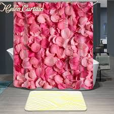 Petal Pink Curtains Helen Curtain 3d Shower Curtains Bathroom Curtain Flowers Creative