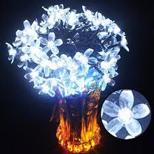 100led solar flower string lights cherry pendant decoration park