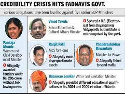 Maharashtra Cabinet Ministers Five Maharashtra Ministers In The Dock The Hindu