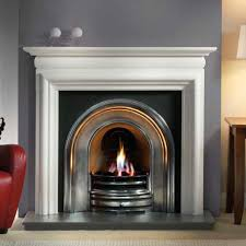 artisan harlington half polished arched cast iron fireplace