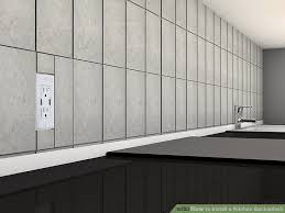 kitchen backsplash how to install how to install a kitchen backsplash with pictures wikihow