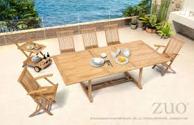 zuo modern regatta outdoor dining set with extension table