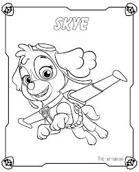 paw patrol coloring pages print color