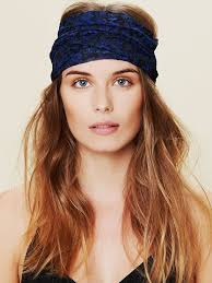 wide headband free printed lace wide headband in blue lyst
