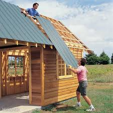 How To Build A Freestanding Patio Roof by Diy Shed Building Tips Family Handyman